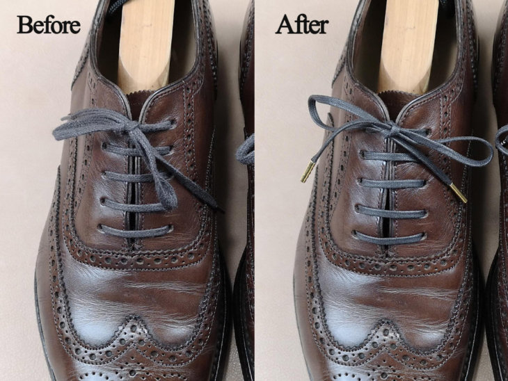 靴紐before&after
